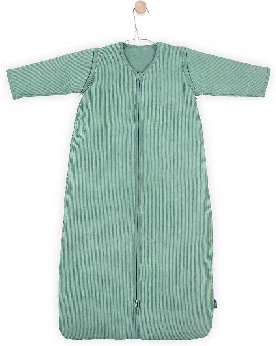 Jollein Rib Padded Babyslaapzak met afritsbare mouw - 90cm - forest green
