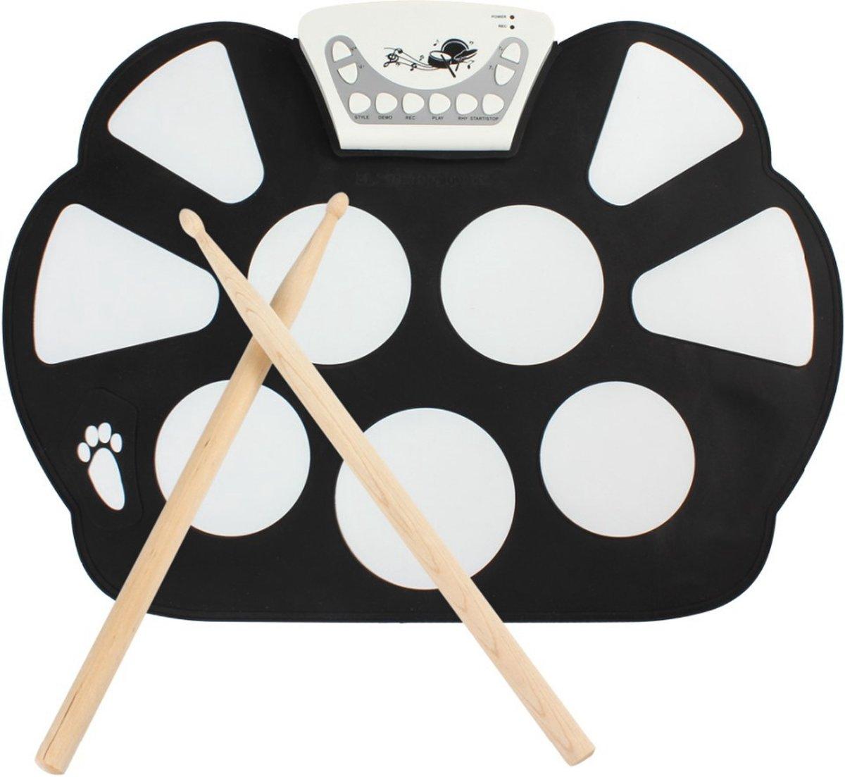 bol.com | Opvouwbaar Elektrisch Drumstel - Roll Up Drum Mat & Sticks ...