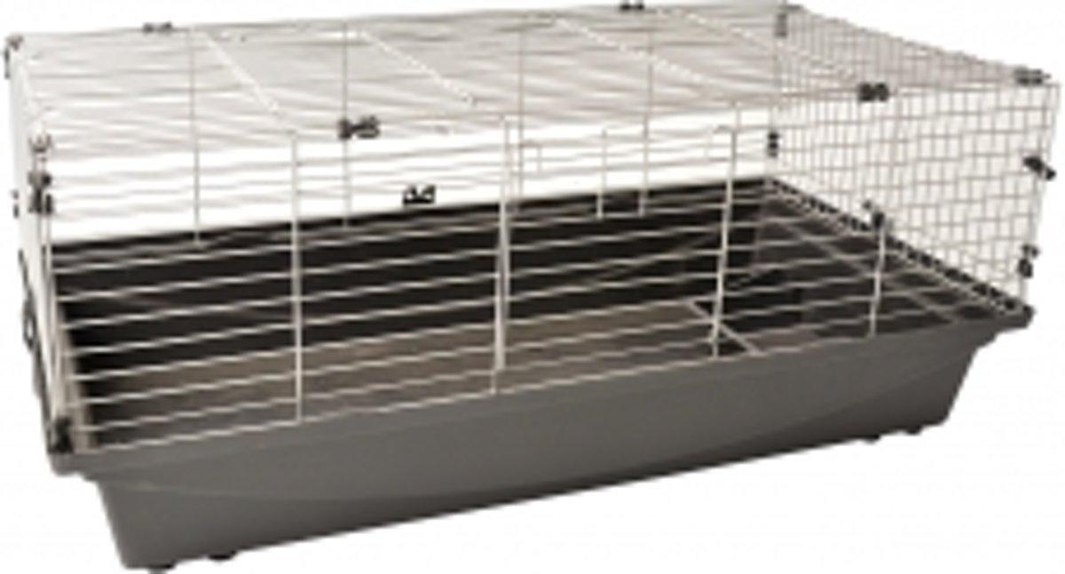 Duvo+ Rabbit 100 Eco - Kooi - 100cm x 54.5cm x 41.5cm - Grijs