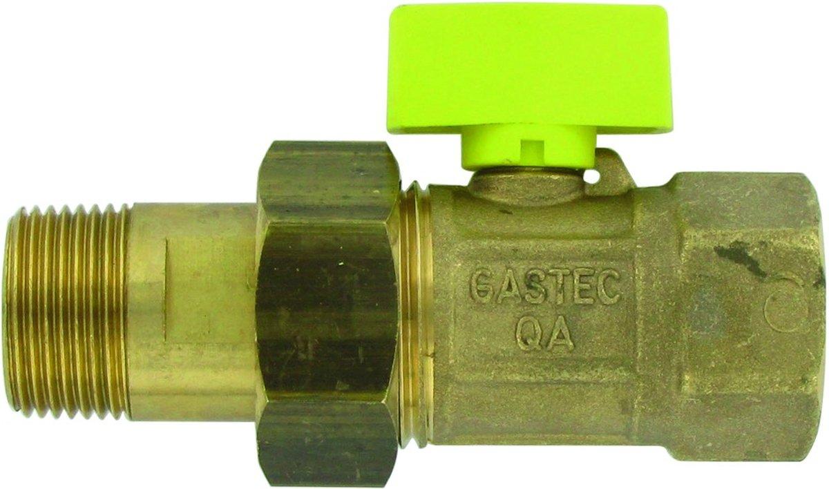 Gaskogelkraan 3/4'' binnendraad x 3/4'' buitendraad kopen