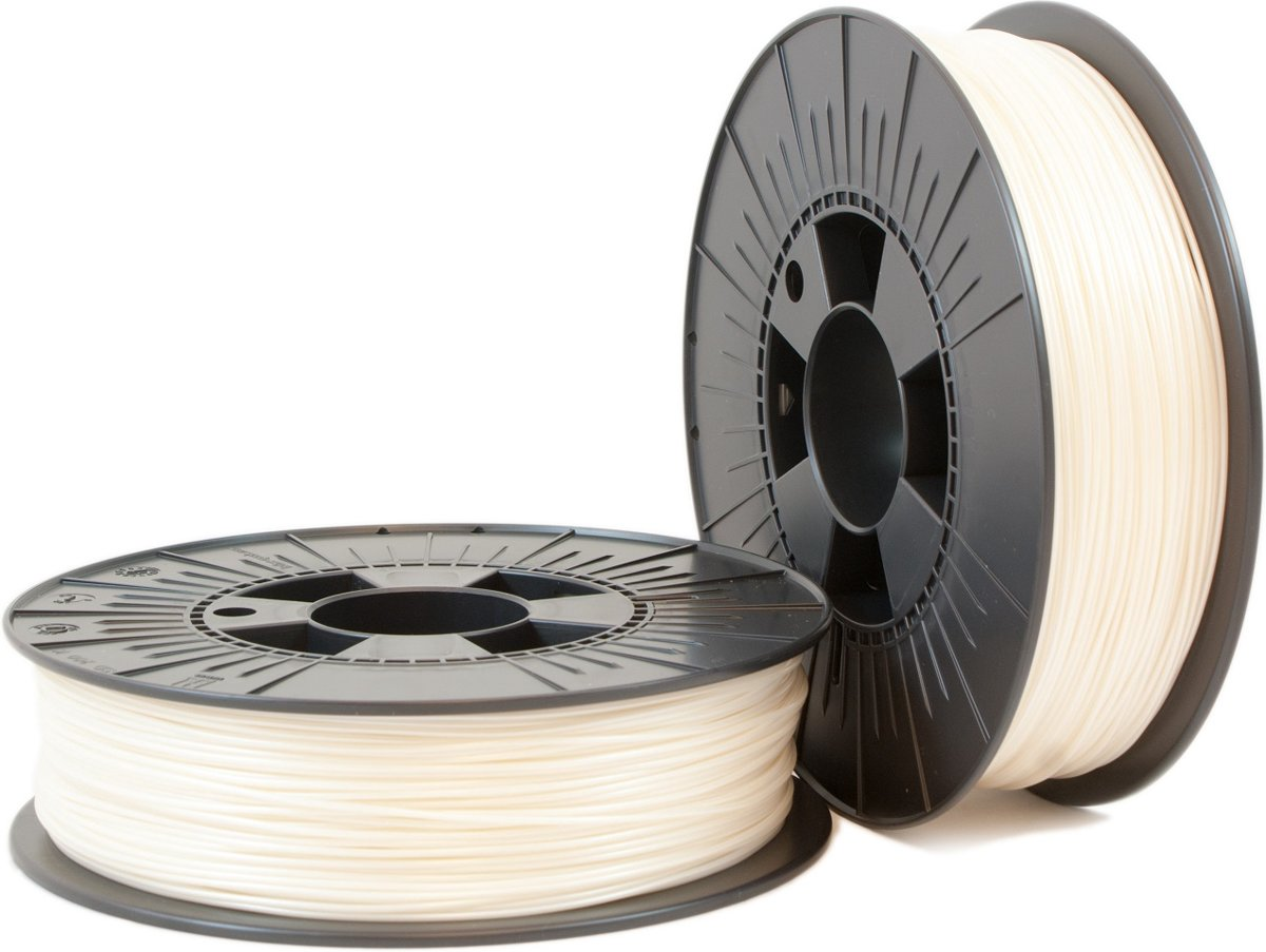 PLA 1,75mm pearl white ca. RAL 9001 0,75kg - 3D Filament Supplies