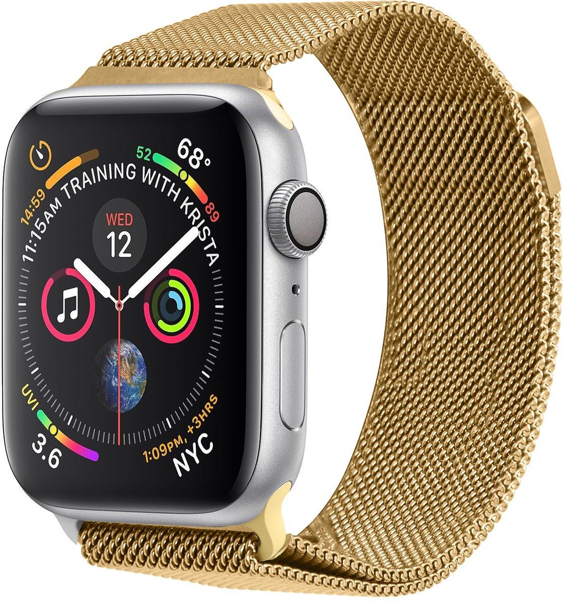 Goud Milanese design bandje voor de Apple Watch 44 mm / 42 mm kopen