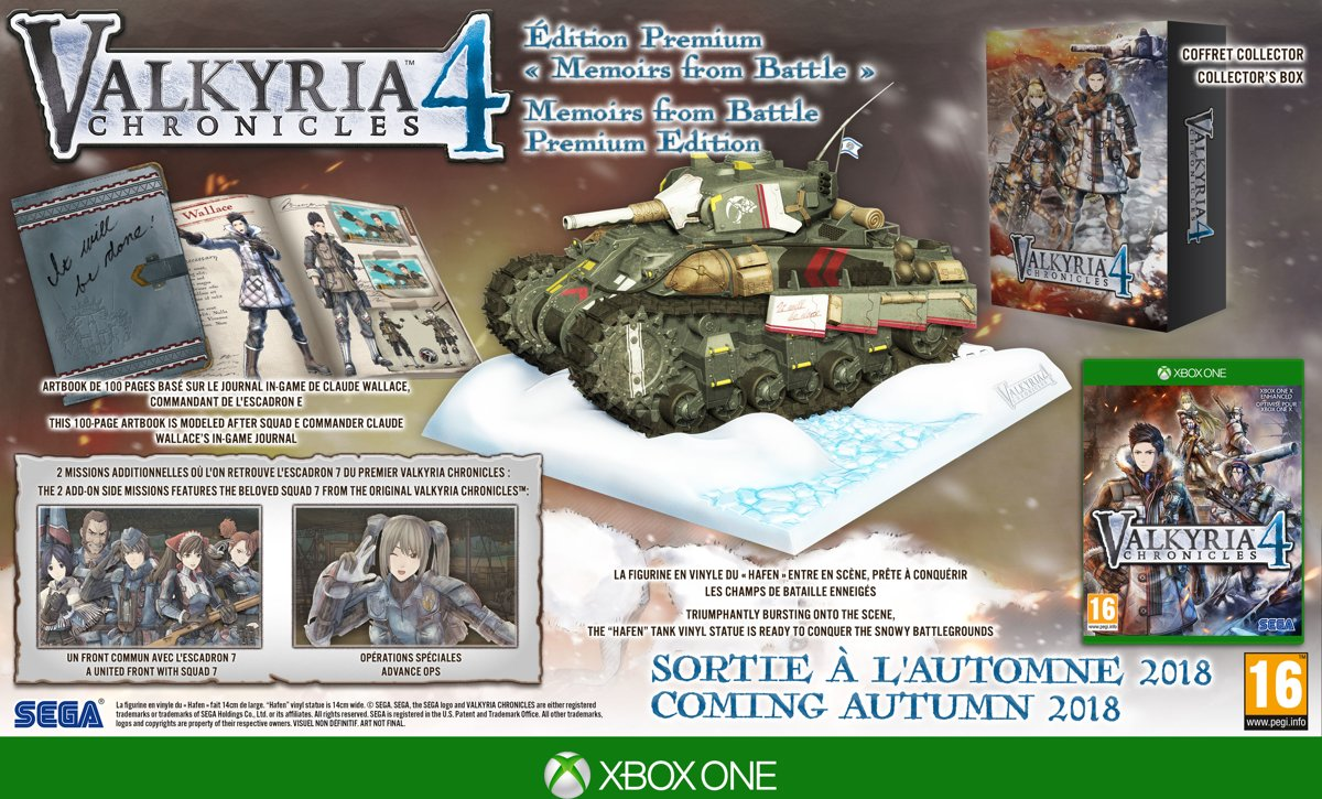 Valkyria Chronicles 4 Memoirs from Battle Collector Edition Xbox One
