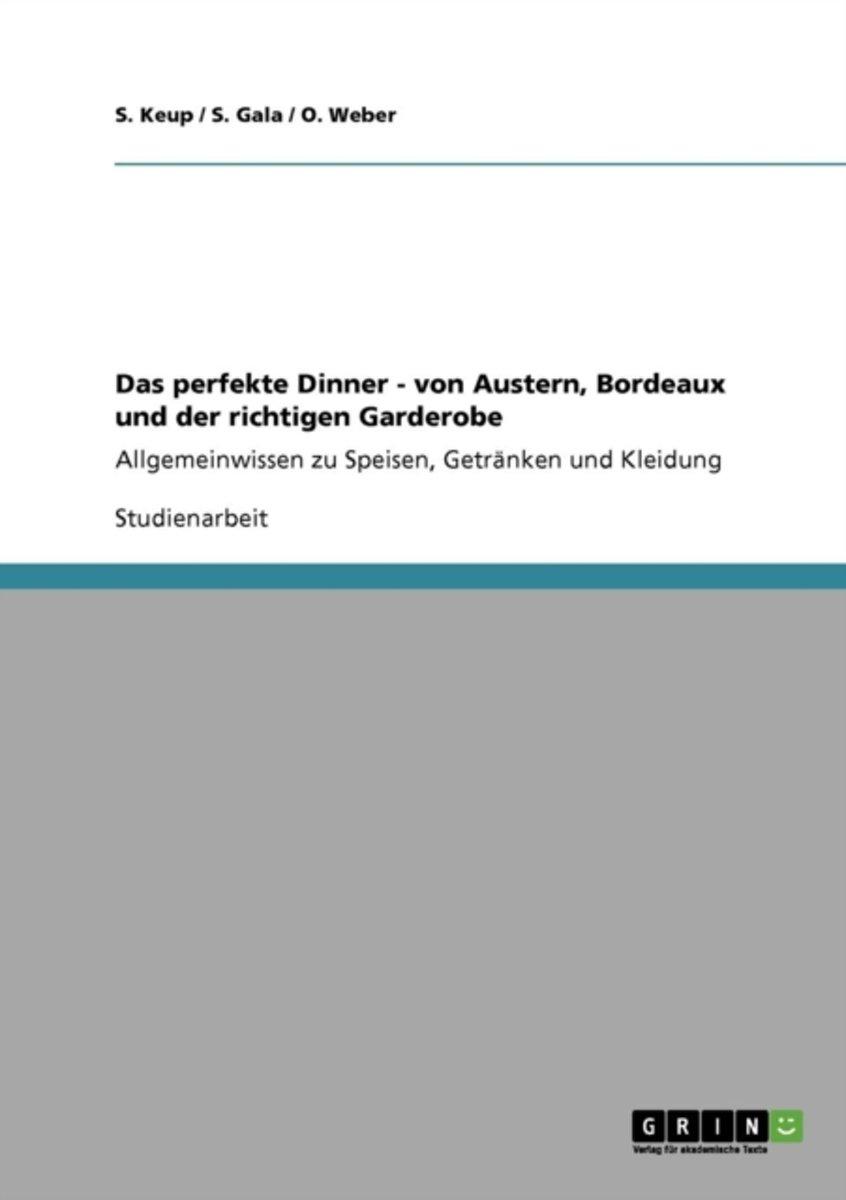 bol.com | Das Perfekte Dinner - Von Austern, Bordeaux Und Der ...