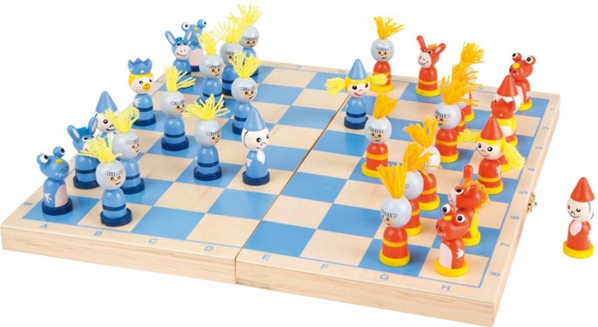 Small foot Houten schaakspel voor onderweg
