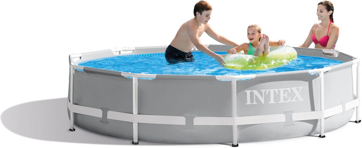 Intex Opzetzwembad Met Pomp Prism Frame Ø305 X 76 Cm Grijs