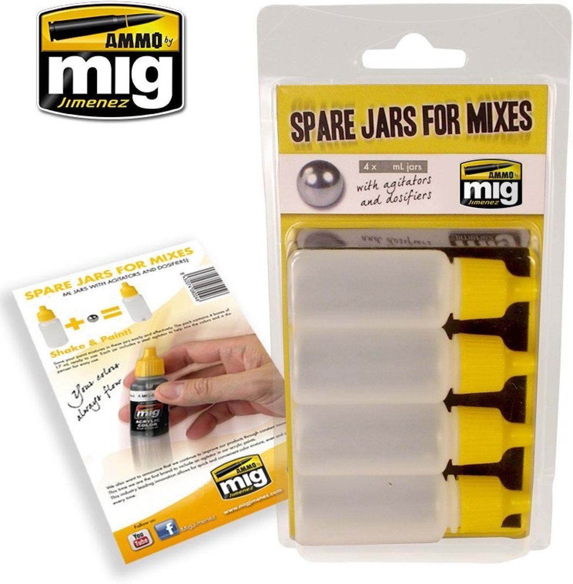 Mig - Spare Jars For Mixes (5 X 35 Ml Jars)