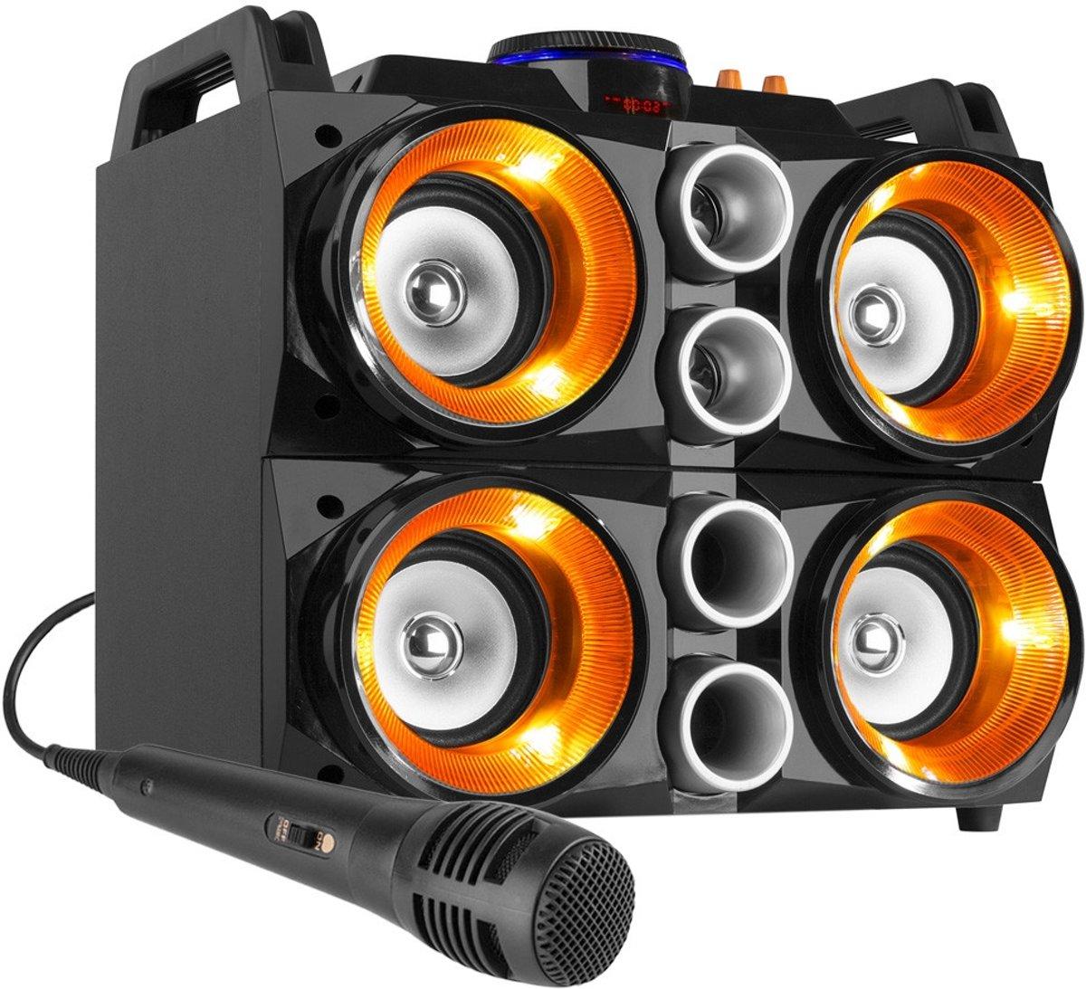 Karaokeset - Fenton MDJ200 Party Station 150W op accu met o.a. Bluetooth kopen