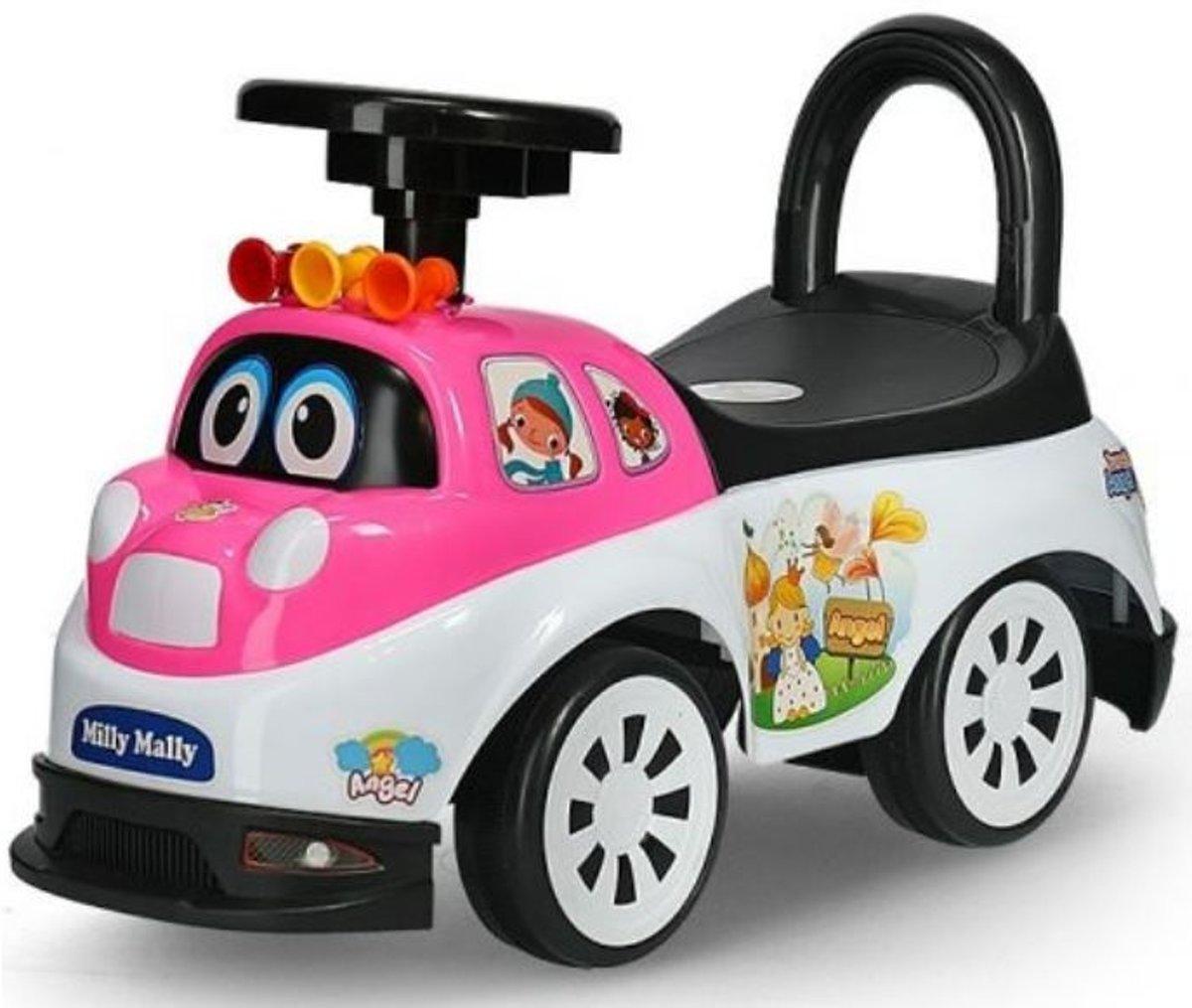 Milly Mally Ride On Tipi Loopwagen Angel Junior Roze/wit