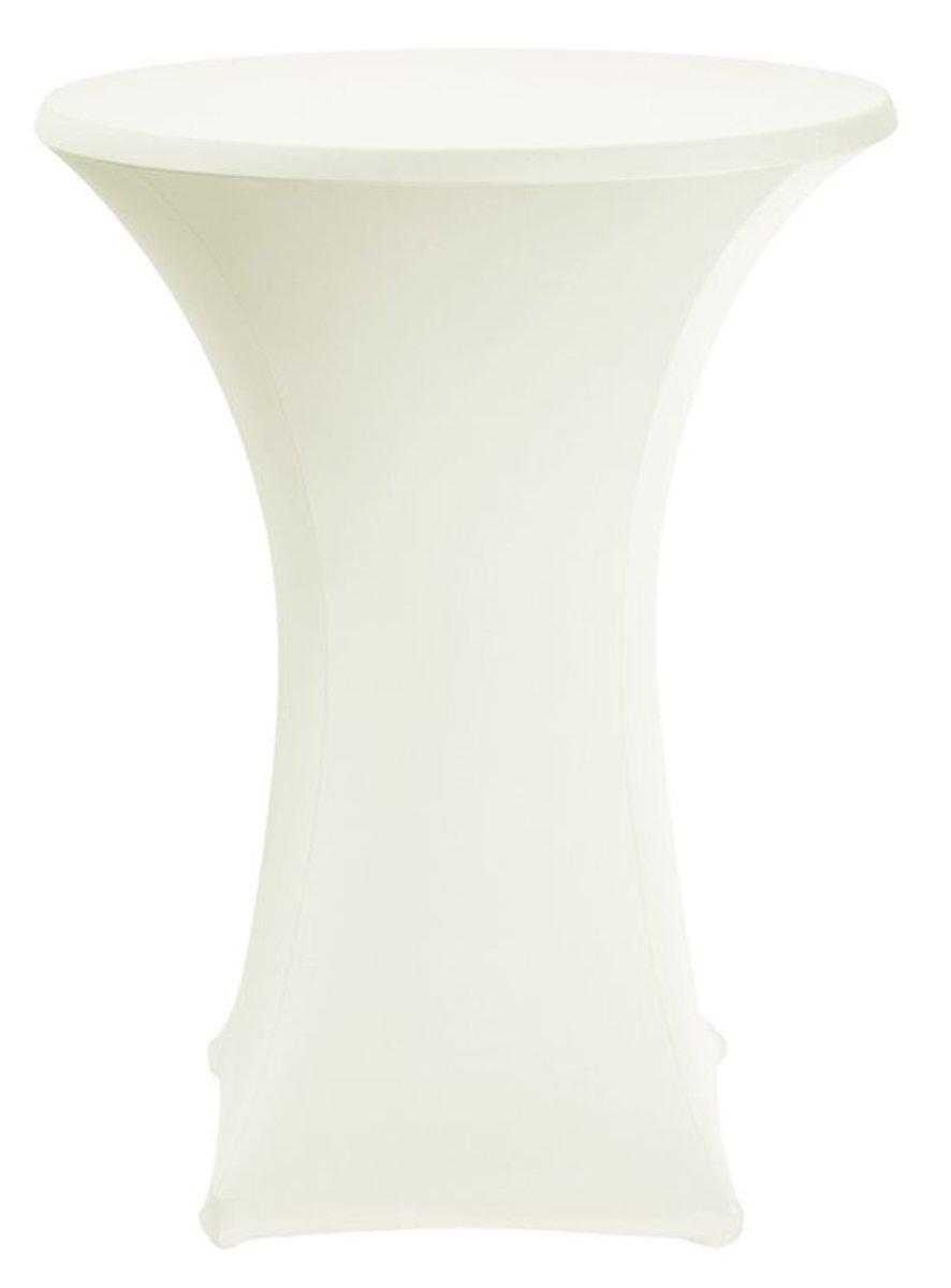 Statafelrok stretch Bistro D1 - Ø 70-85cm - Creme kopen