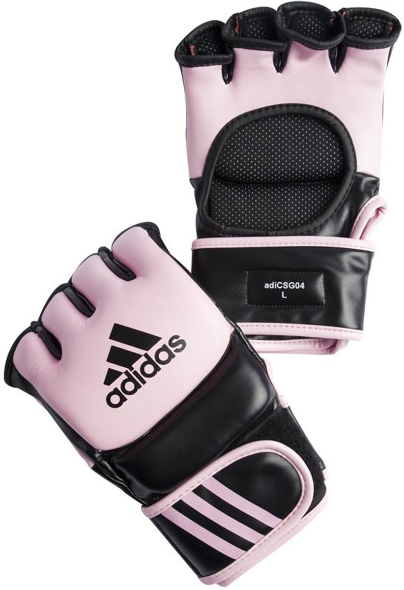 | adidas Ultimate MMA Handschoenen RozeZwart Medium
