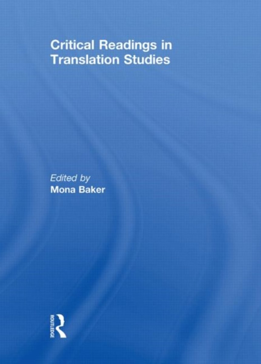 bol.com   Critical Readings in Translation Studies   9780415469548   Mona  Baker   Boeken