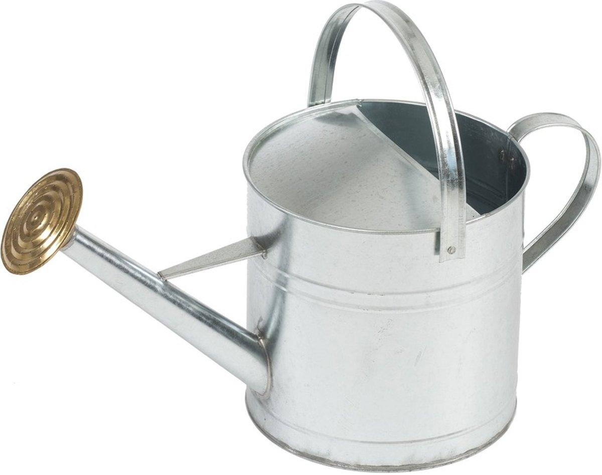 Gieter 9 liter verzinkt staal met broeskop/sproeikop - Tuinonderhoud - Tuin bewateren/bewatering