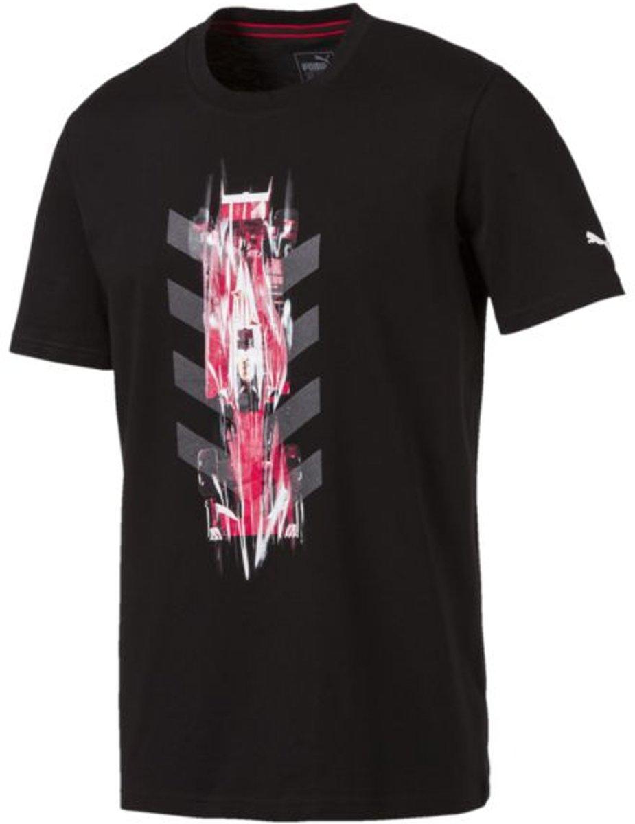PUMA SF NightCat Graphic Tee Shirt Heren - Puma Black