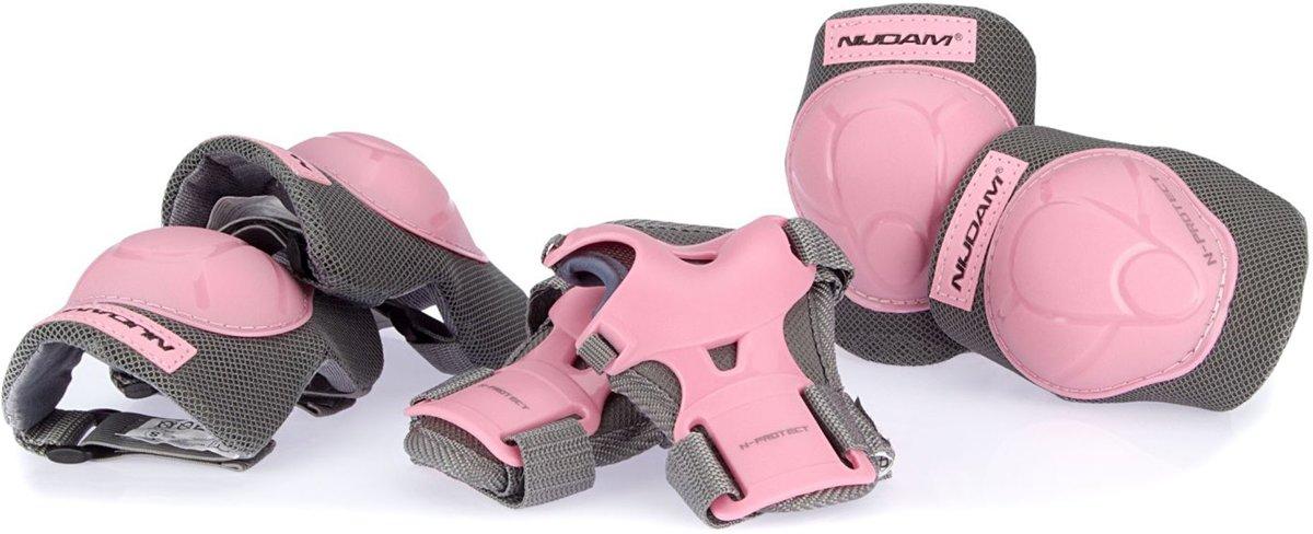 Nijdam Junior Beschermset N-Protect - Roze/Grijs - S
