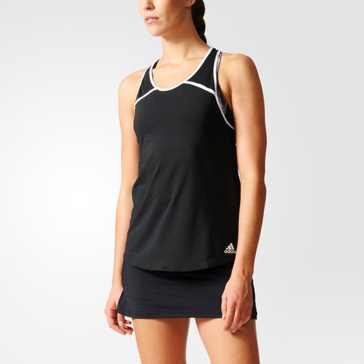 adidas Club Tank - Sportshirt - Dames - XS - Black thumbnail