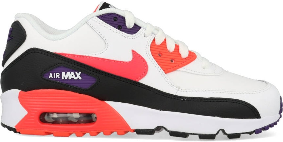 Nike Air Max 90 Leather WitZwartRood