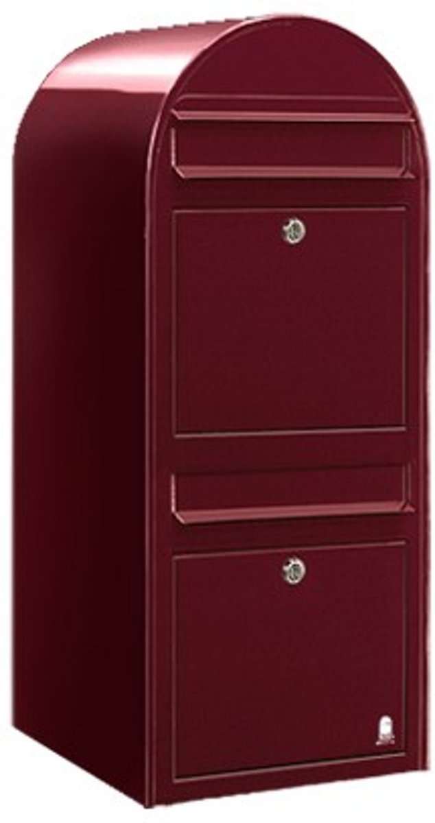 Brievenbus Bobi Duo Bordeaux Rood