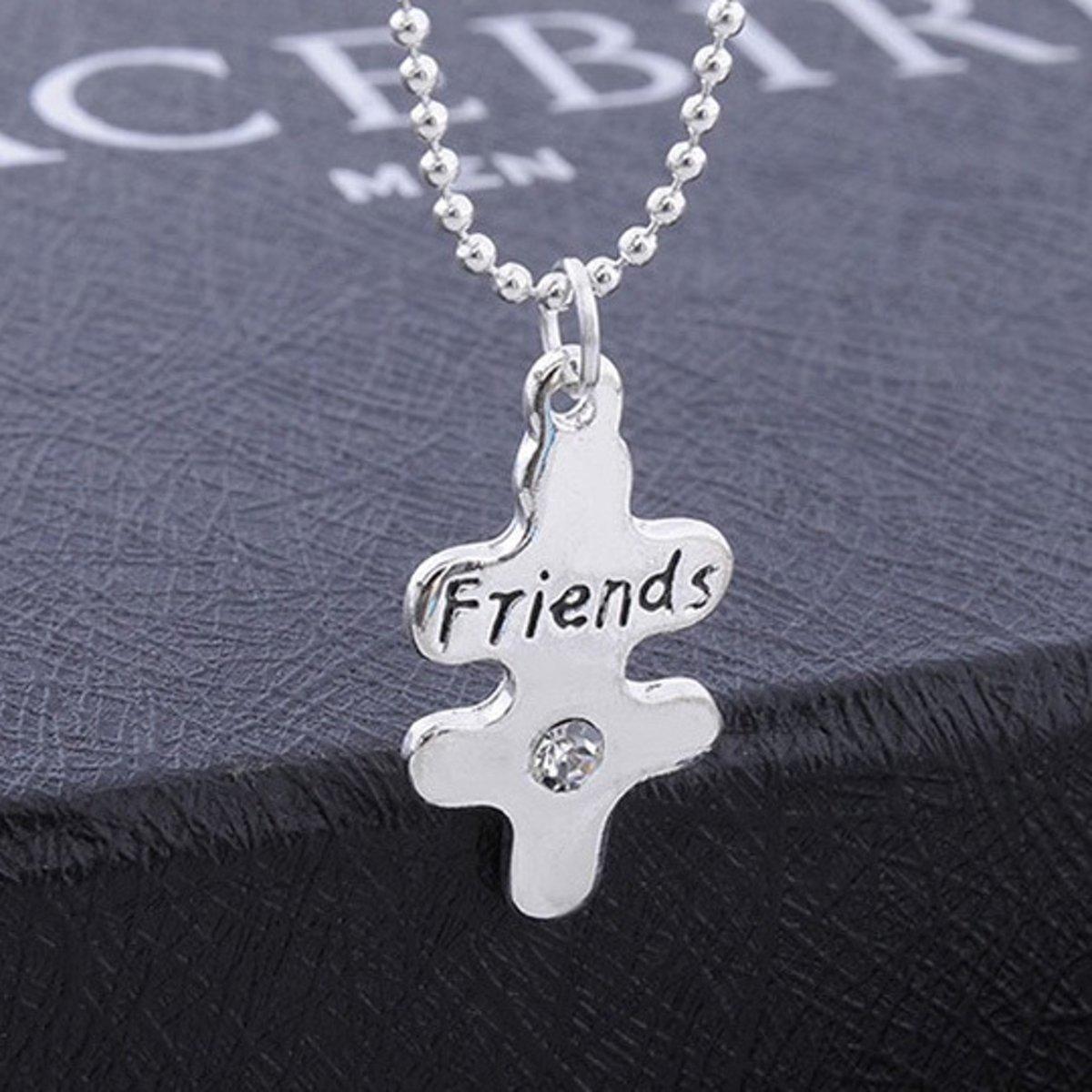 bol.com | BFF Ketting hartje voor 3 - Best Friends Forever - zilver