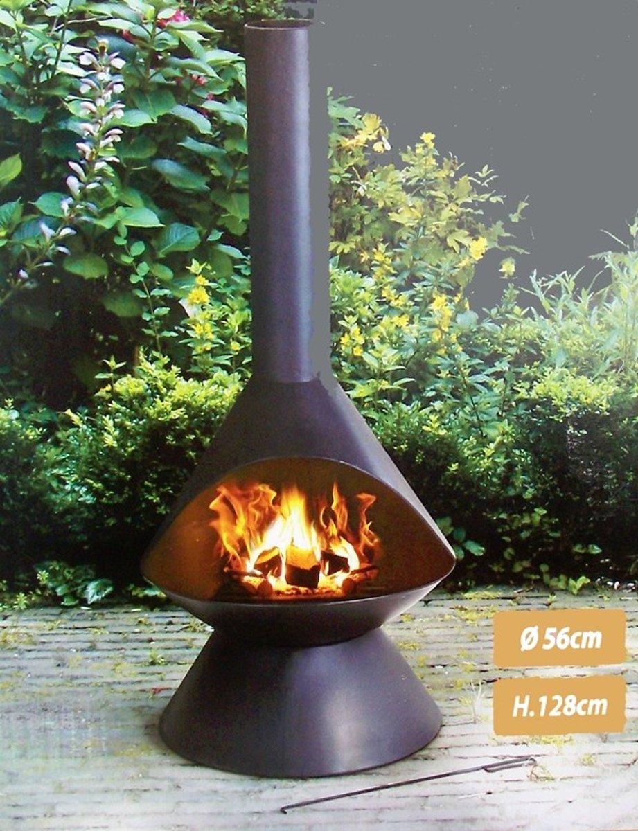 vuurkorf - terrashaard - tuinhaard - terraskachel - tuinverwarmer - buitenkachel 128 cm