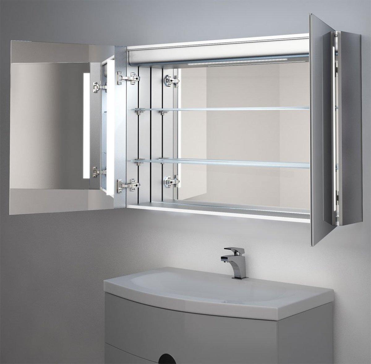 Spiegel Met Verwarming : Bol degelijke aluminium spiegelkast met bluetooth audio