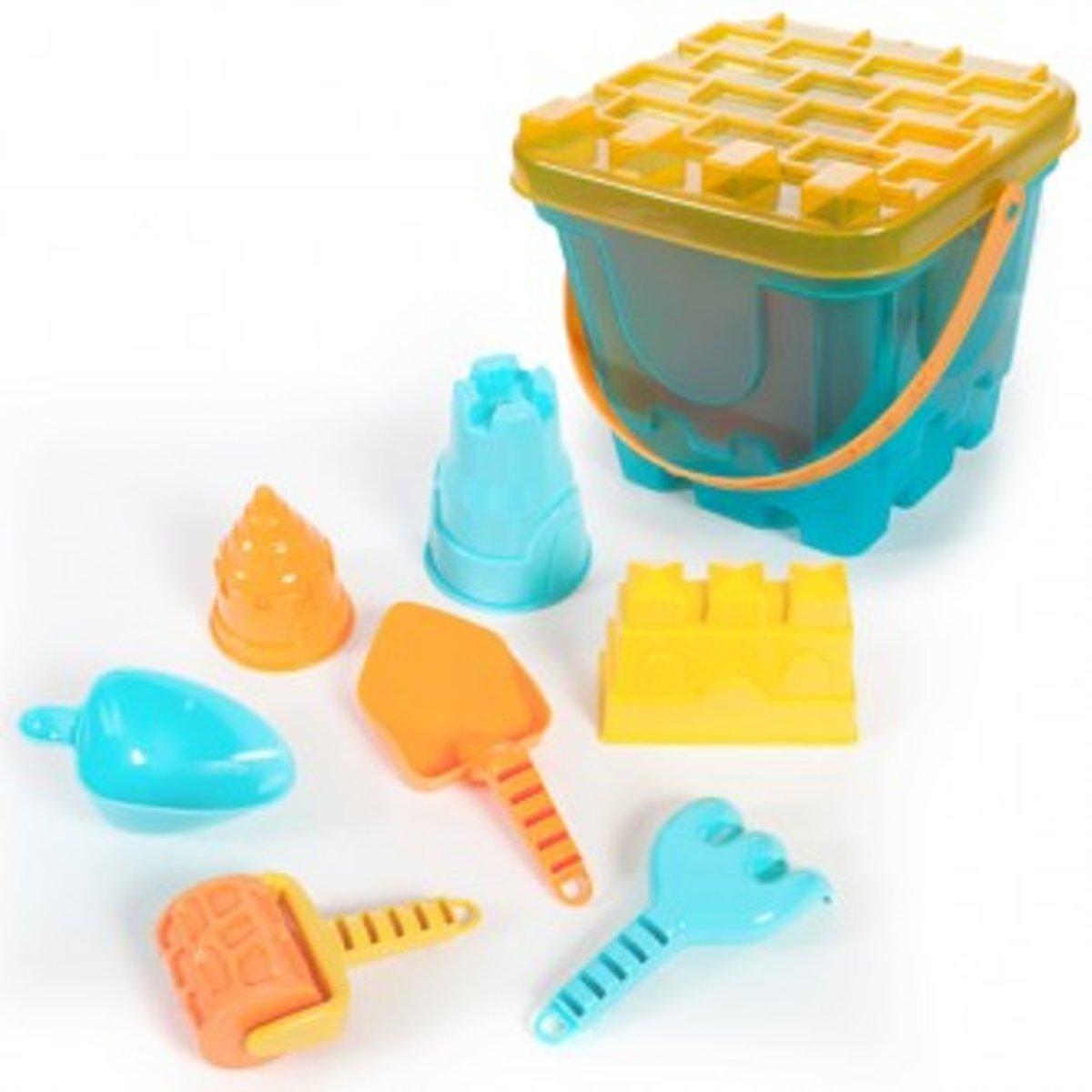 Strandset speelgoed -Strand set-8 delig-blauw