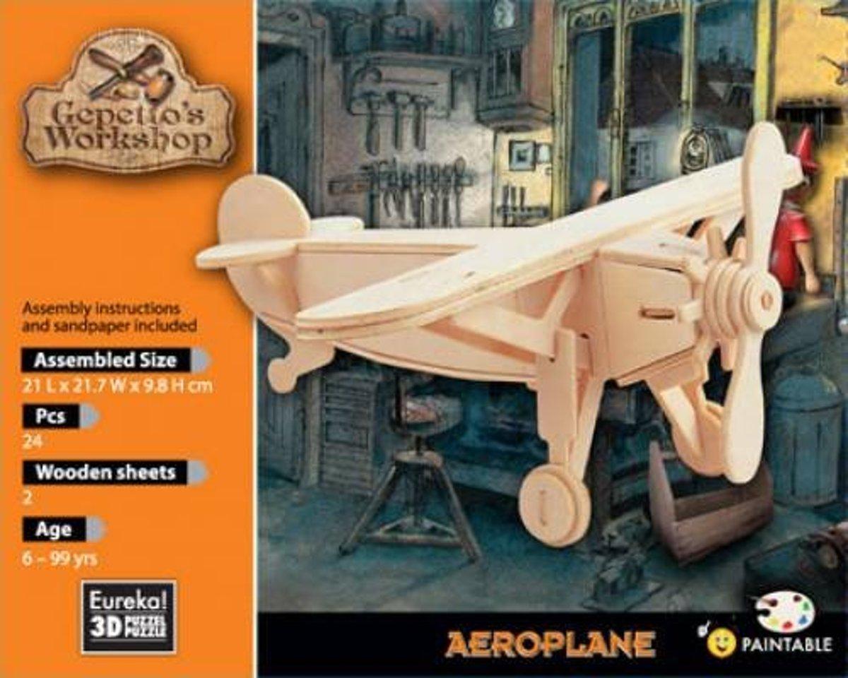 Eureka 3D Puzzel Gepetto's Vliegtuig - Multiplex