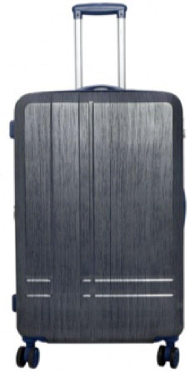 reiskoffer 100% polycarbonaat lichtgewicht 78cm 101 L, Samos blauw kopen