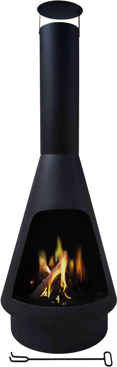 Maxx Tuinhaard - terrashaard Helios - zwart - Ø50 x 140cm