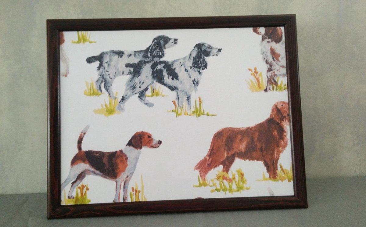Laptray schootkussen Honden