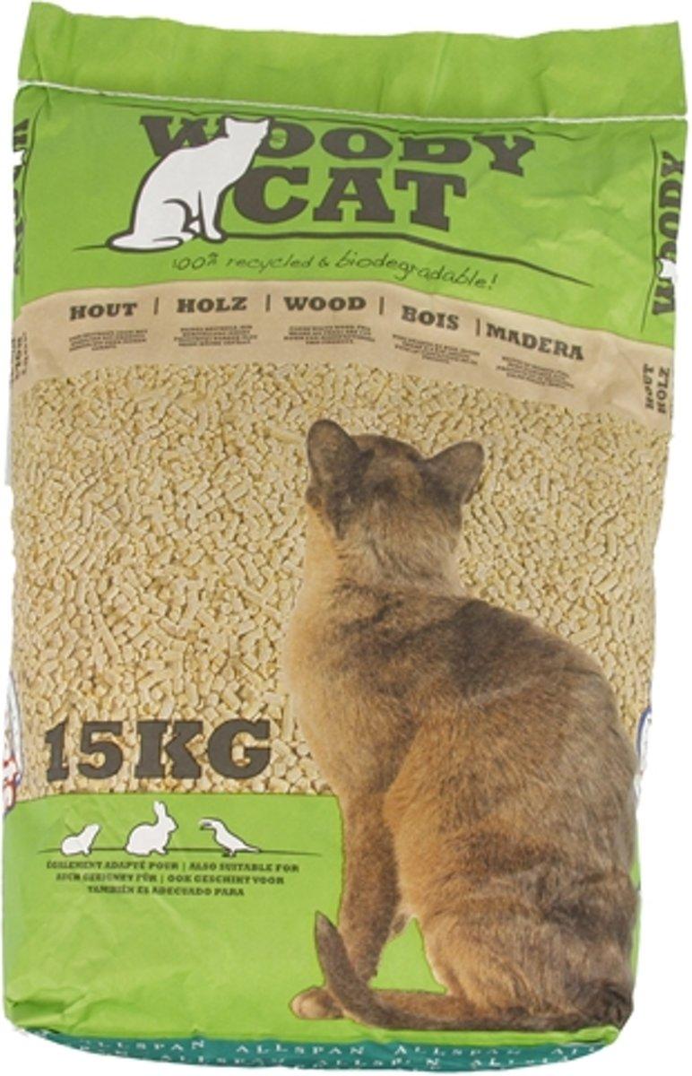 Woodycat Houtkorrel Kattenbakvulling 15  kg kopen