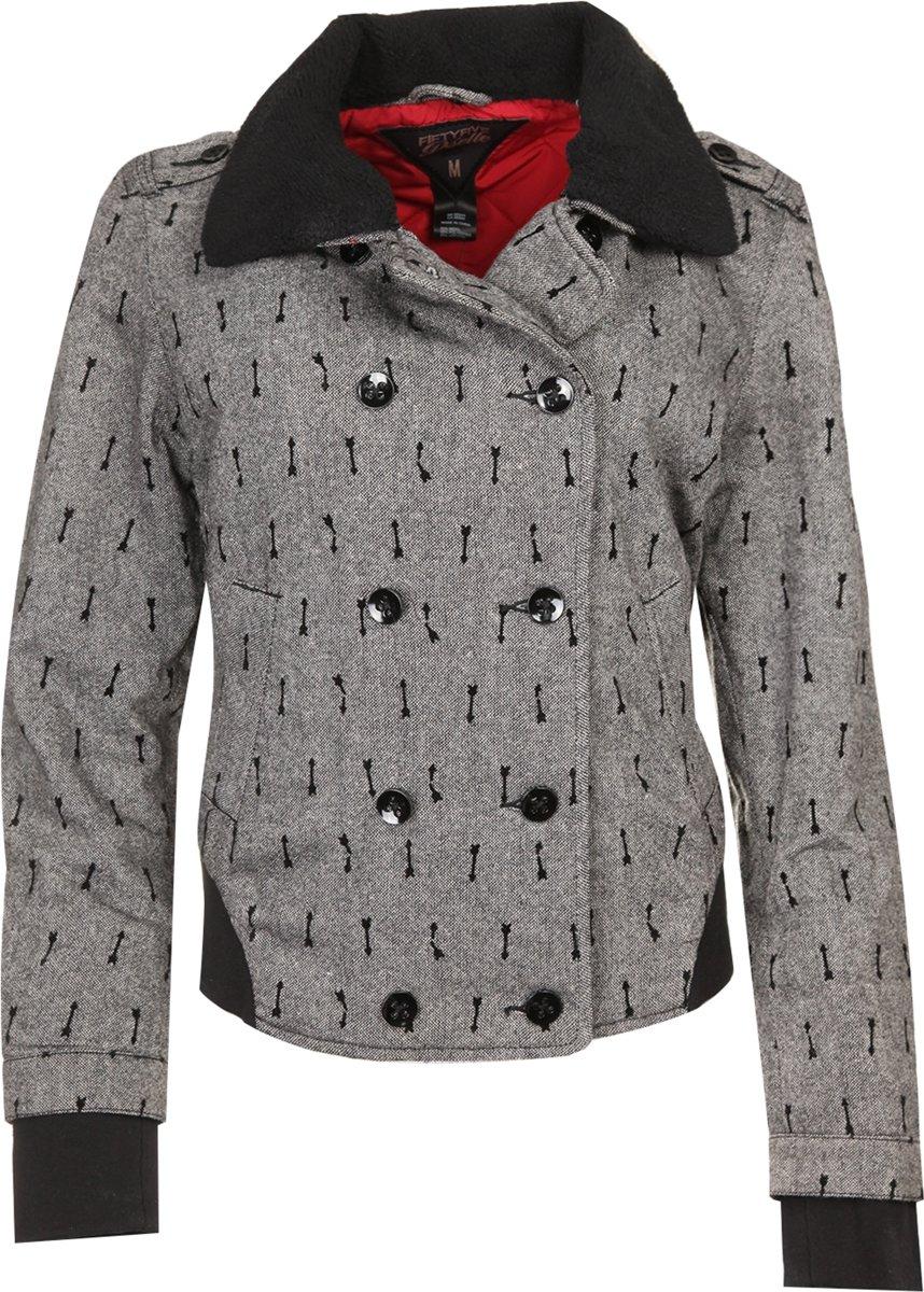 Zwarte print meisjes ski jas Muse Jacket van Dare 2b (Maat