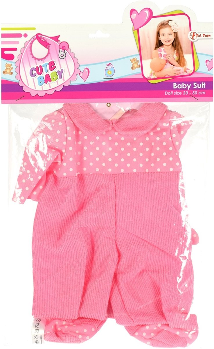 Toi-toys Babypoppenkleding Boxpakje 20-30 Cm Roze