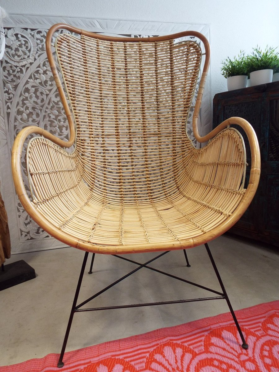 Egg Chair Goedkoop.Bol Com Bali Goeds Lounge Stoel Egg Chair Rotan Metaal