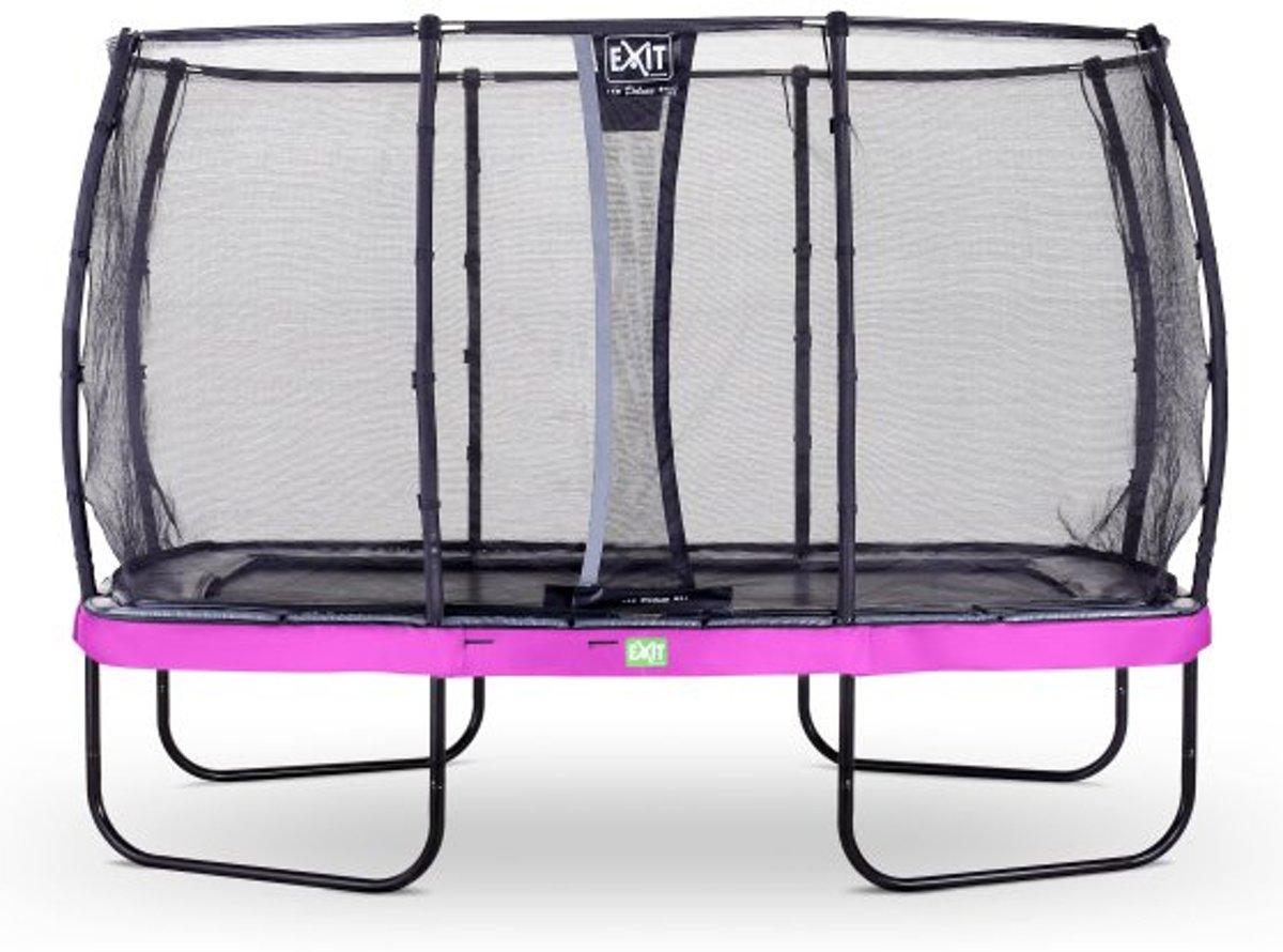 EXIT Elegant trampoline 244x427cm met veiligheidsnet Deluxe - paars