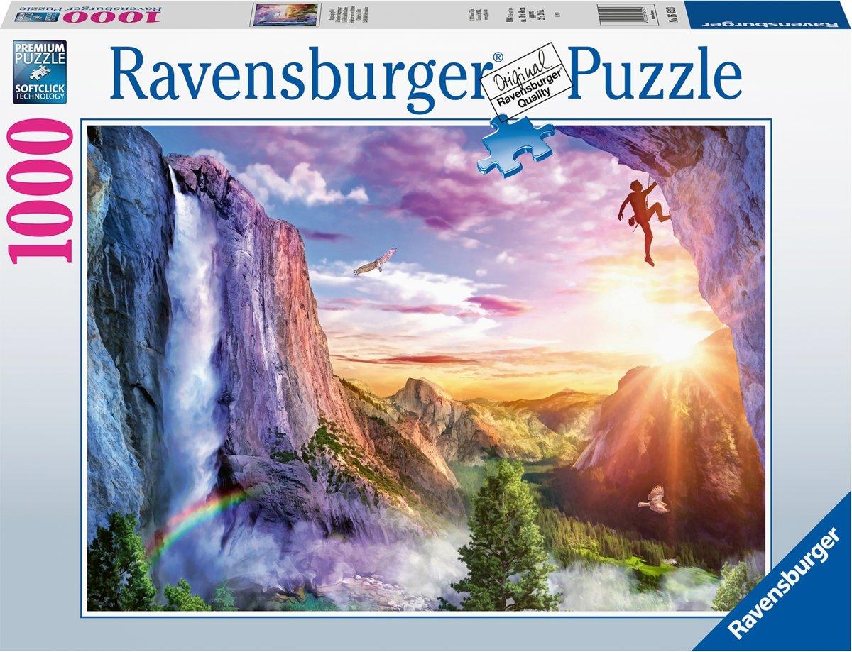 Afbeelding van product Ravensburger puzzel Het plezier van een klimmer - Legpuzzel - 1000 stukjes