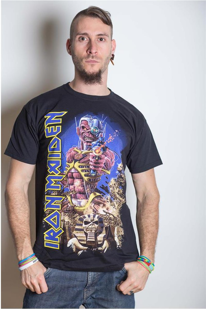 Afbeelding van product Iron Maiden Somewhere Back in Time Jumbo Mens TS: Small  - maat S