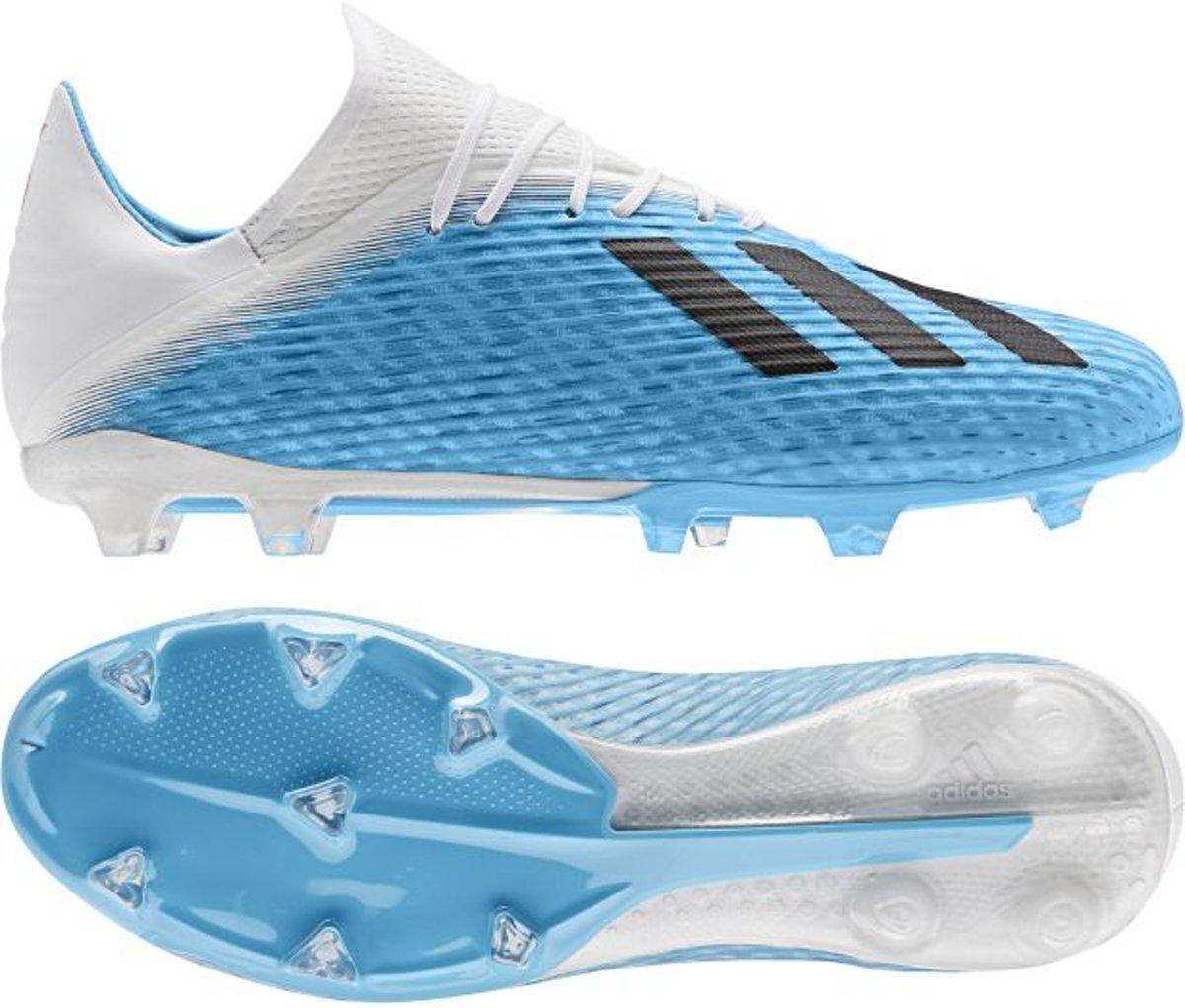 adidas X 19.2 FG Hard Wired Voetbalschoenen Heren Bright CyanBlackPink Maat 42