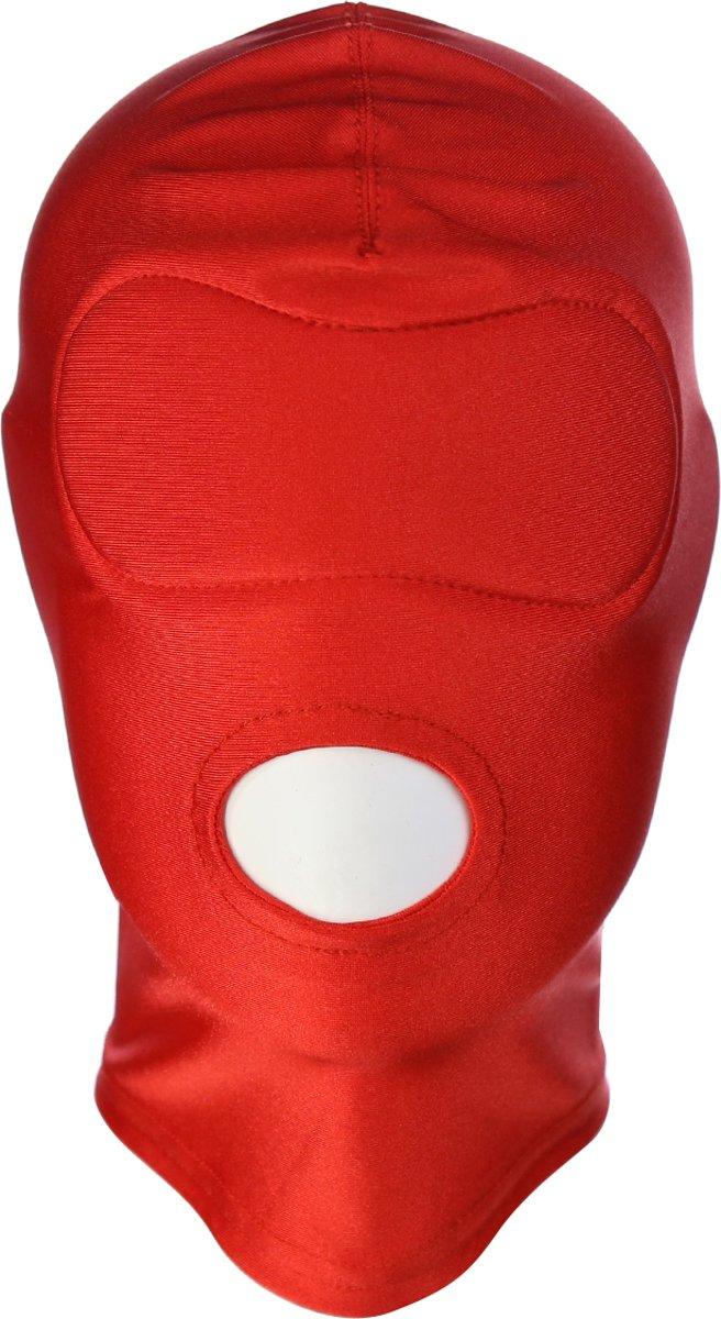 Foto van Banoch - Mask/1 hole Red - Spandex Masker - BDSM- Rood