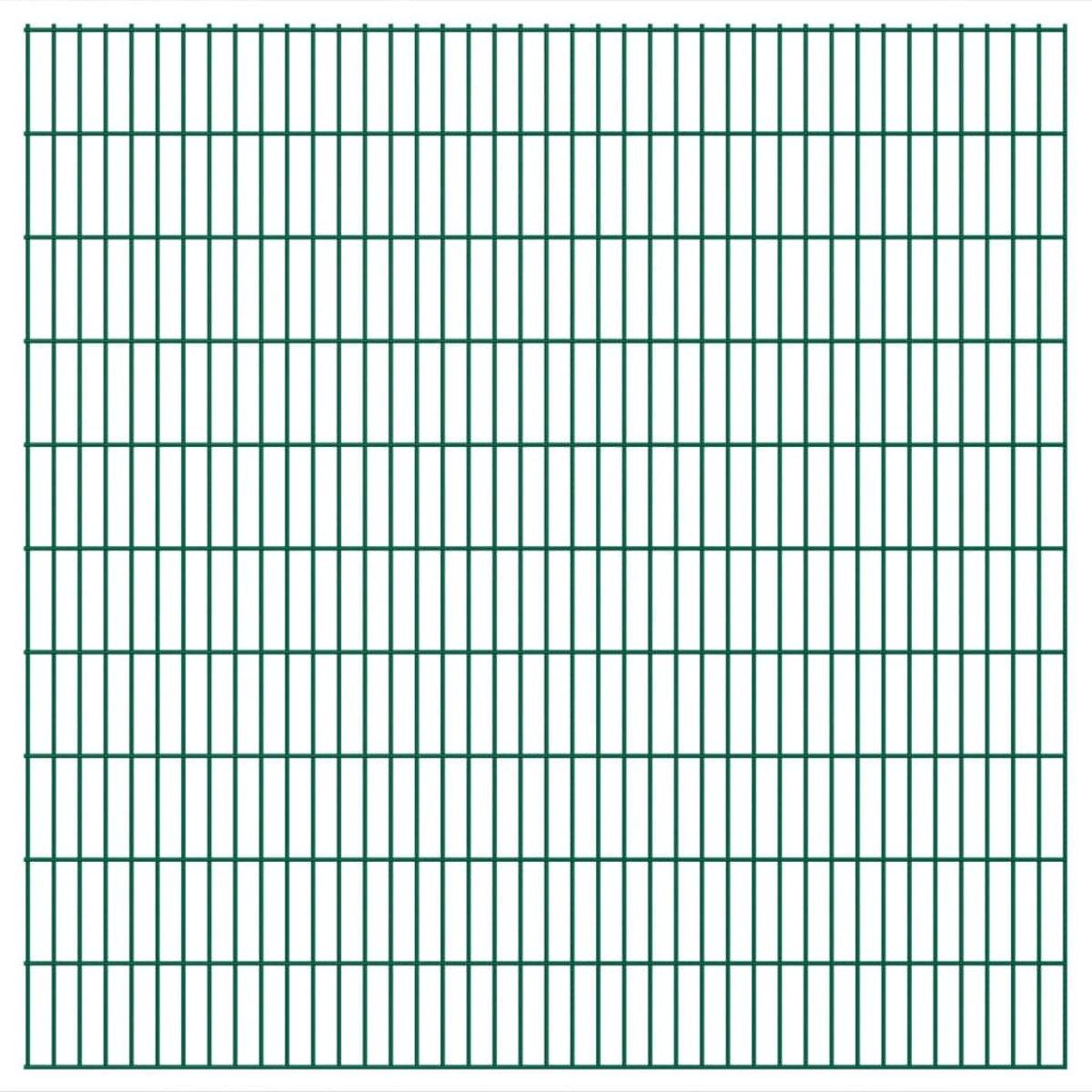 Dubbelstaafmatten 2008 x 2030mm 30m Groen 15 stuks (incl. Werkhandschoenen)