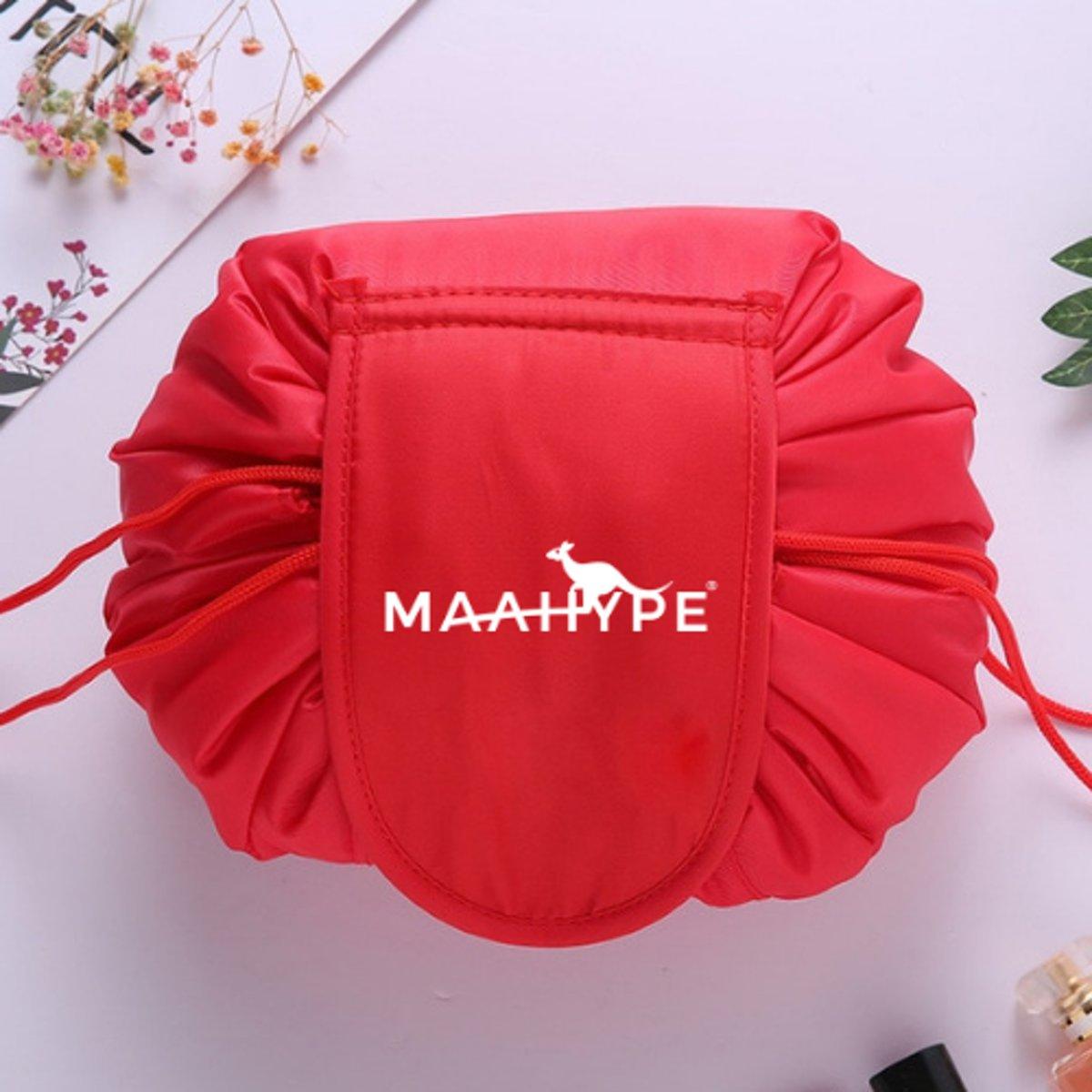MaaHype Make-up organiser - Makeup opbergen - Accesoires organiser - Opbergsysteem - Reis toilettas - rood kopen