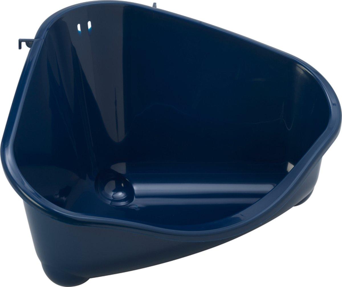 Moderna hoektoilet voor konijn en knaagdier donker blauw 49 cm x 34,4 cm x 26 cm - 1 st