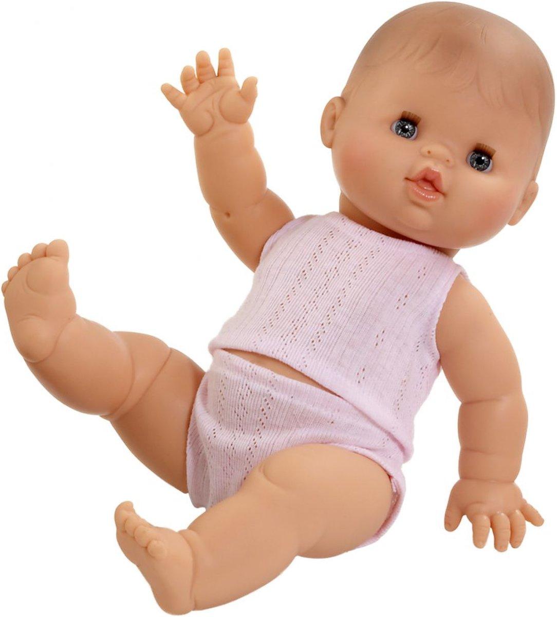 Paola Reina Gordi Babypop Blank Meisje Alicia met ondergoed