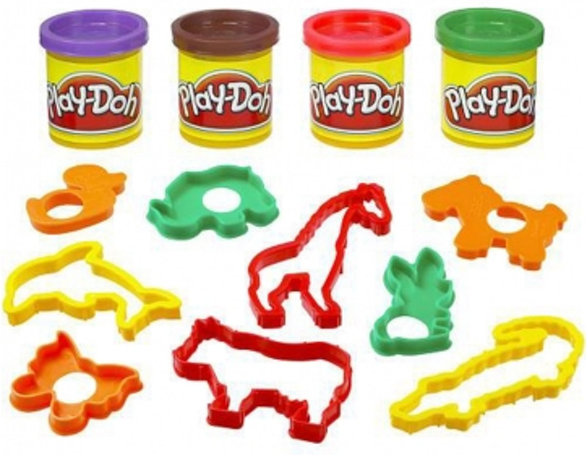 Play-Doh Animal Discovery Bucket met 9 accessoires