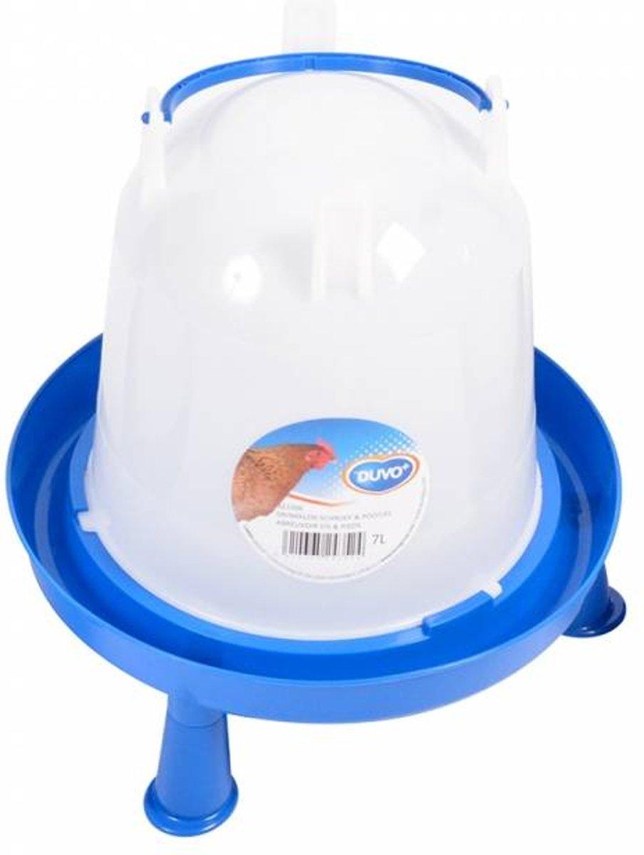 Drinktoren blauw met pootjes 7 liter
