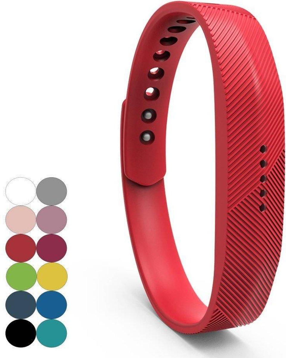 Siliconen sportbandjes voor de Fitbit Flex 2 met druksluiting  - Rood kopen