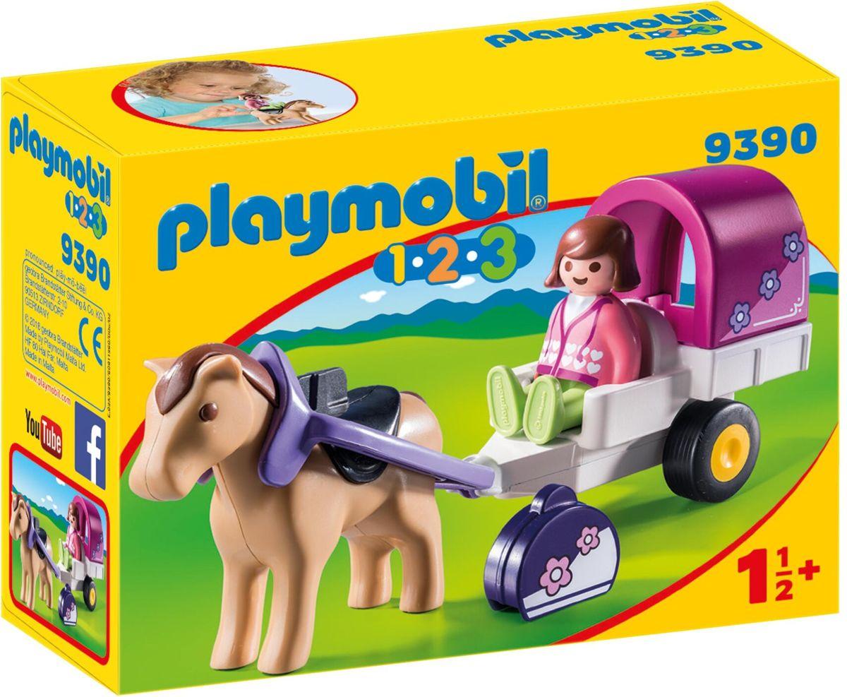 Playmobil Slaapkamer Van De Ouders 5331.Playmobil 1 2 3 Paard Met Kar 9390 Hobbyenspeelgoed Nl