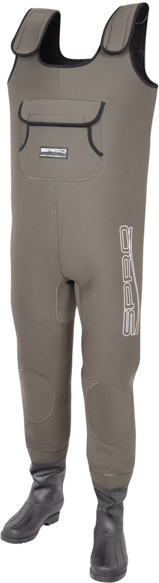 Spro Neoprene 4mm Chest Wader PVC Boots | Maat 43