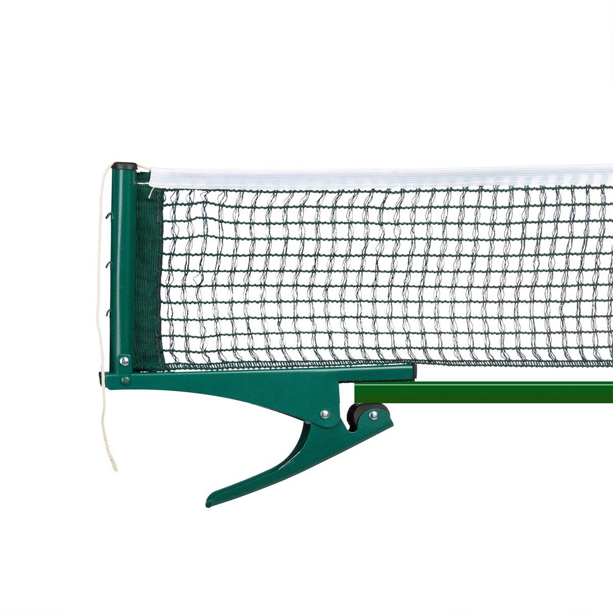 relaxdays - tafeltennisnet van polyethyleen met clips - waterafstotend - groen