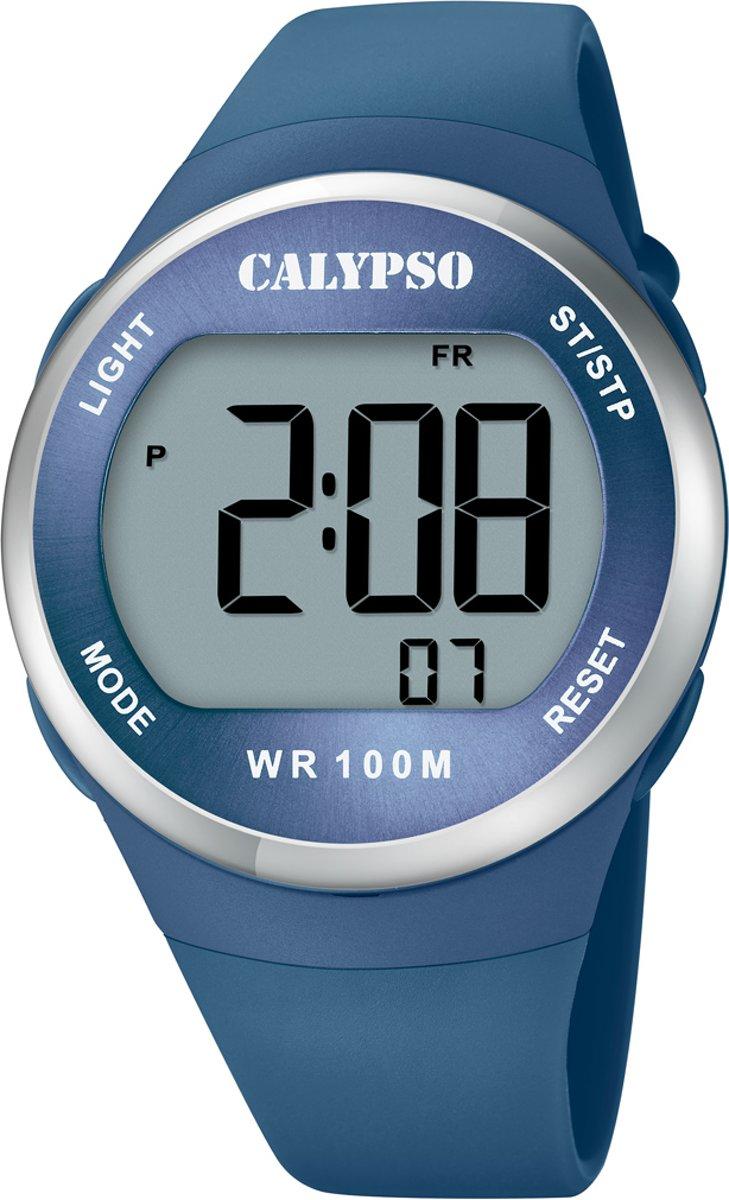 Calypso K5786/3 digitaal horloge 38 mm 100 meter blauw/ zilverkleurig kopen